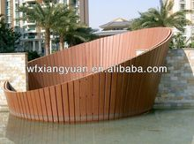 wood fiber and plastic wpc composite wood railing /fence