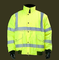 High Visibility safety rain waterproof reversible jacket