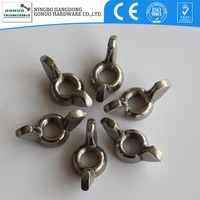 Stainless steel wing head lock nut