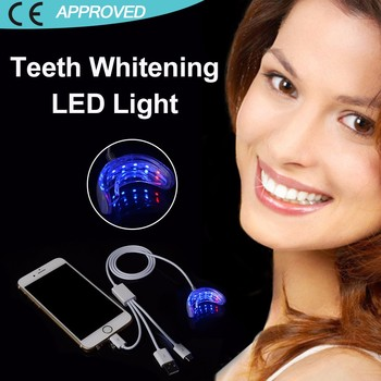 Smart phone connection led blue light teeth whitening system
