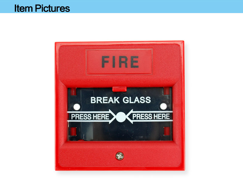 Emergency Door Release Button with Break Glass for Security Alarm Control System of Shopping Mall
