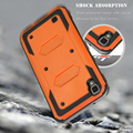 For LG Volt3/X STYLE LS755/Tribute HD LS676 Rugged Armor Case Holster KickStand Belt CLip