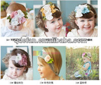 wholesale beautiful fashion top baby headband with flower hair accessories