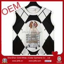2014 woman custom dog printed tank top