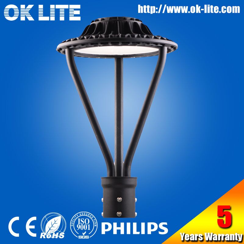 decorative photocell 100W commercial led pole mount circular area light
