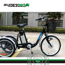 36v250w front motor lithium battery 3 wheel tricycle with rear rack