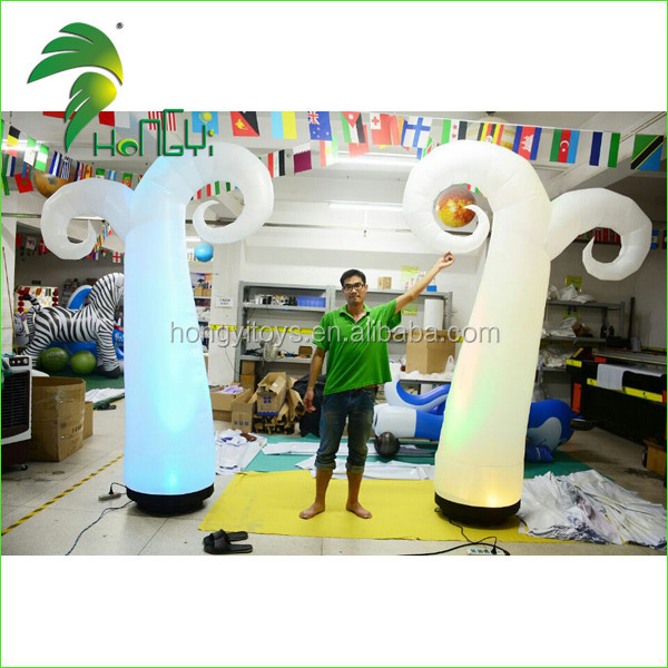 Decoration LED Lighting Inflatable Cone / Inflatable PVC LED Light Cone / Inflatable Cone Lighting