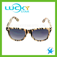 Yellow leopard glasses frame for women simple style sunglasses with your logo