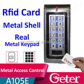 125khz Rfid Card reader with metal keypad
