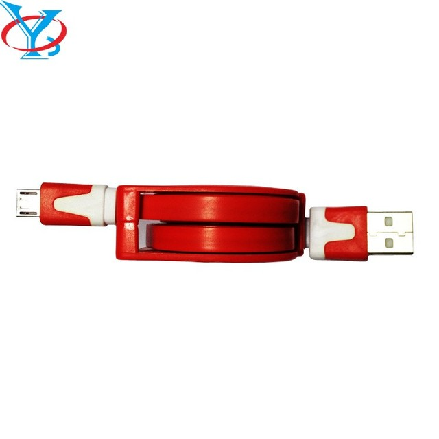 QY-D02 1 meter to 3 meter 9 feet Retractable USB 3.1 Type-C Fast Data Charge Charging Cable 1m