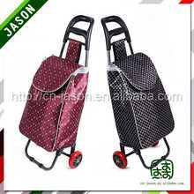 folding hand cart folding shopping trolley bag with 6 wheels