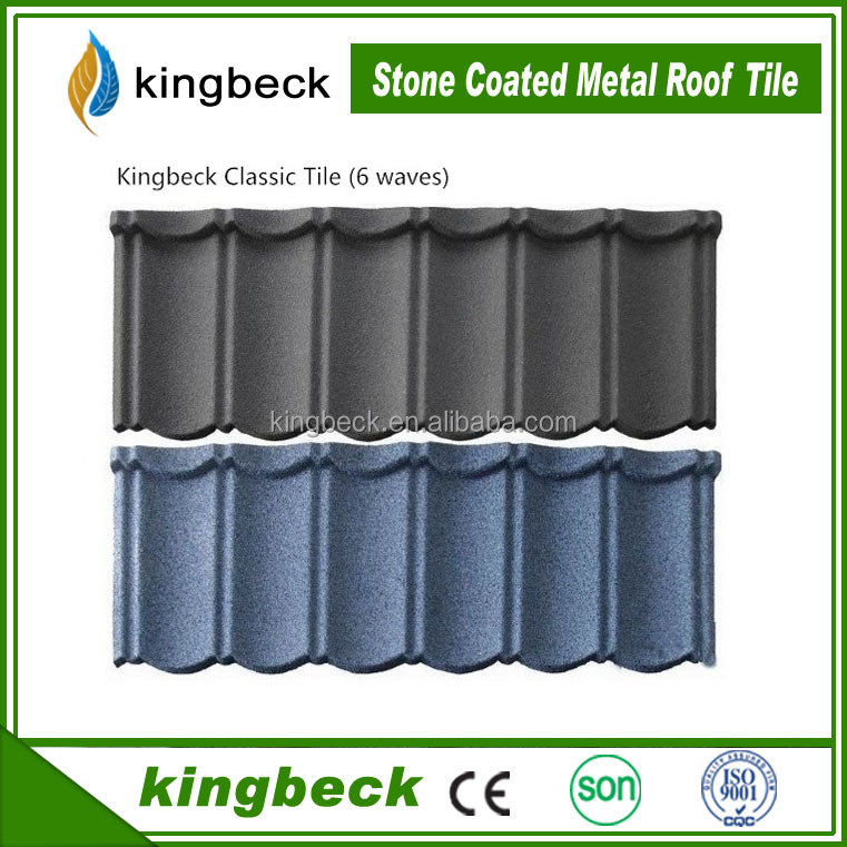 Curved Heat Insulation Stone Coated Metal Roof Tiles