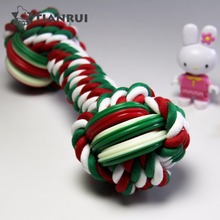Lucky Christmas toy Rubber Dog Chew Rope Toy set