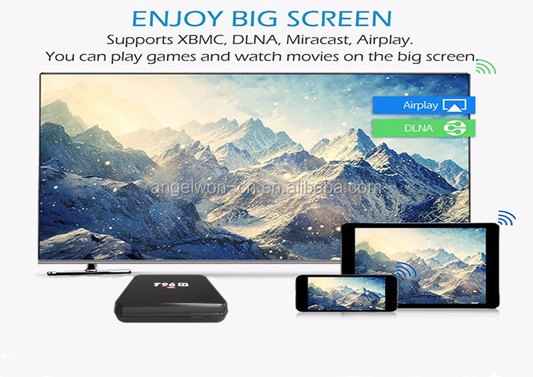 Android internet tv receiver box amlogic S805 4K tv box RK3229 BT wifi set top box
