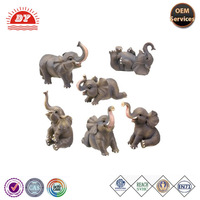 custom plastic bulk wild animal elephant figurines