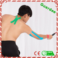 Pain relief products waterproof physical therapy kinesiology tape for back/shoulder/leg/wrist/ankle/knee/neck/waist support