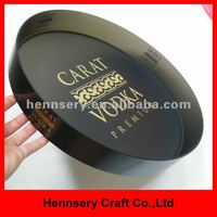 anti slip large plastic round serving tray beer tray bar tray