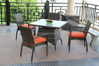 resin wicker patio furniture/synthetic rattan table and chair