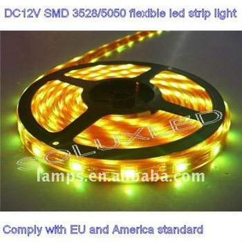 christmas light china manufacturers DC12V SMD 3528 flexible rgb led strip light IP65 chip