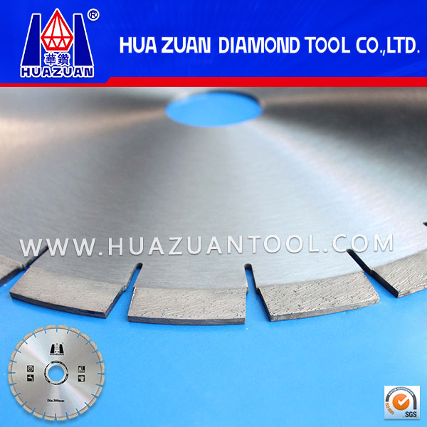 High quality dry used diamond saw blades with diamond segment for grainte