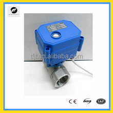 "CWX-15N 2-way CR01 (2wires operation) 3/4"" mini electric ball valve Stainless Steel BSP DC/AC9-24V series city actuator"