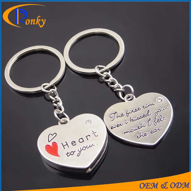 High quality products heart shaped cheap gifts keyrings designer
