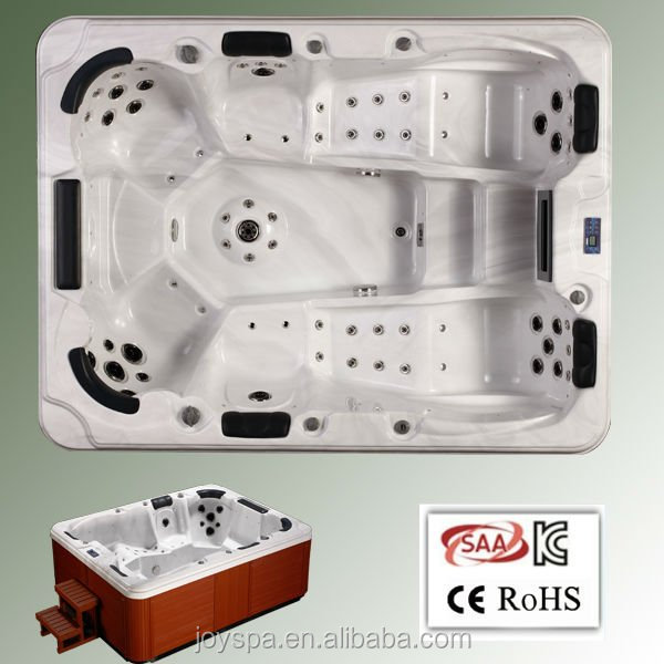 Powerful Air Jets massage korean sex hot tub with two loungers outdoor spa pool sexy masage spa