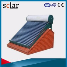Rooftop vacuum glass tubes solar water heater solar thermal technology
