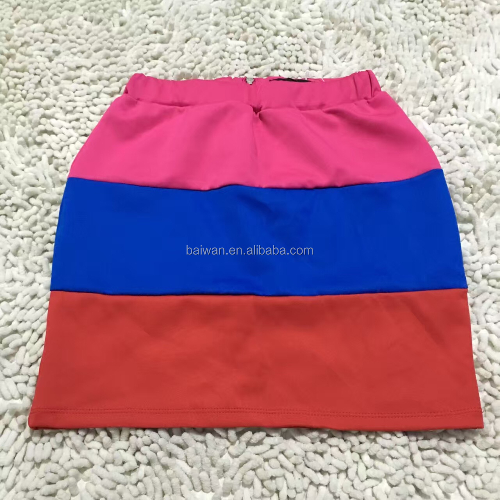 Wholesale fashion women colorful summer short skirt