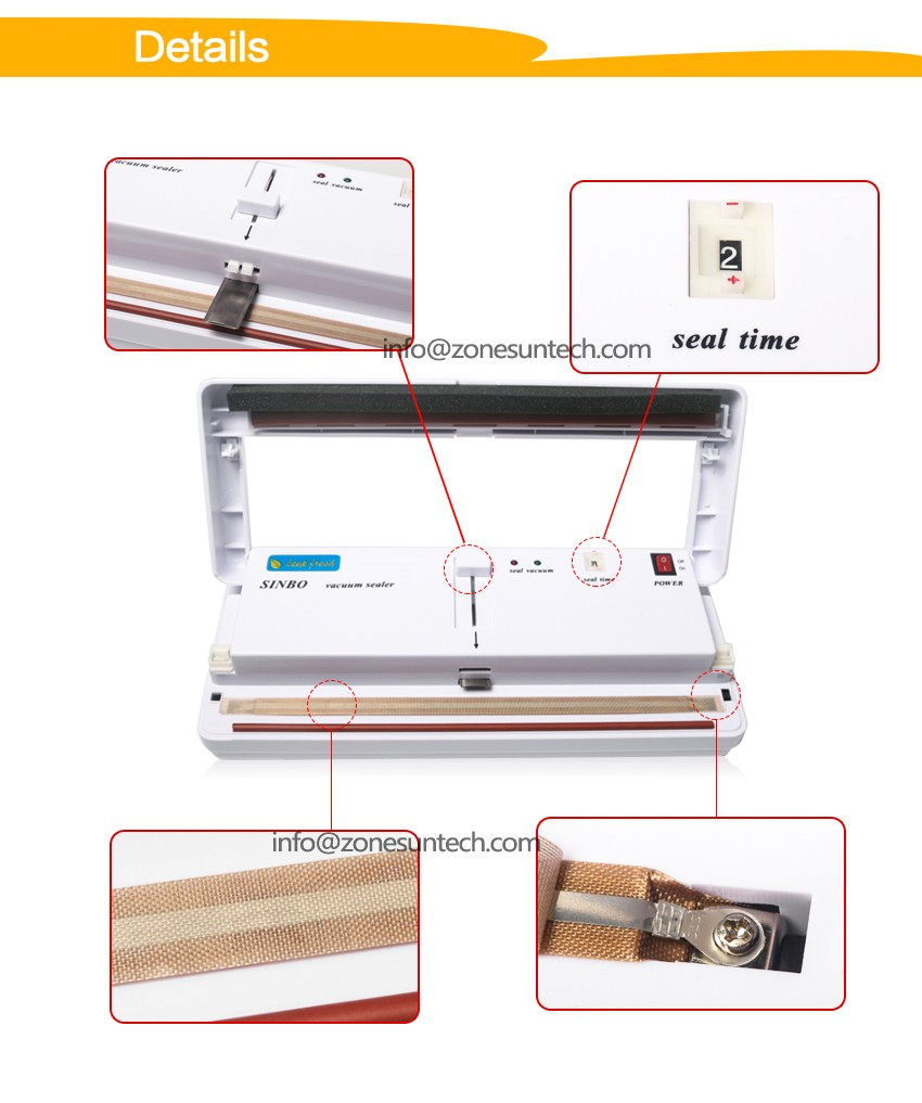 Hot selling mini food vacuum packing and sealing machine