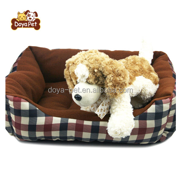 Wholesale Checkered Pattern Pet Mattress Luxury Pet Dog bed