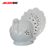 Big white ceramic turkey for Thanksgiving home decoration