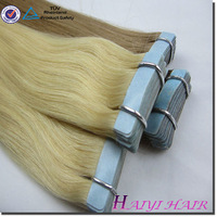 Large Stock Top Quality Virgin Hair ombre color 100% human hair tape hair extension