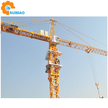 china famous brand 6t travelling tower crane with high quality