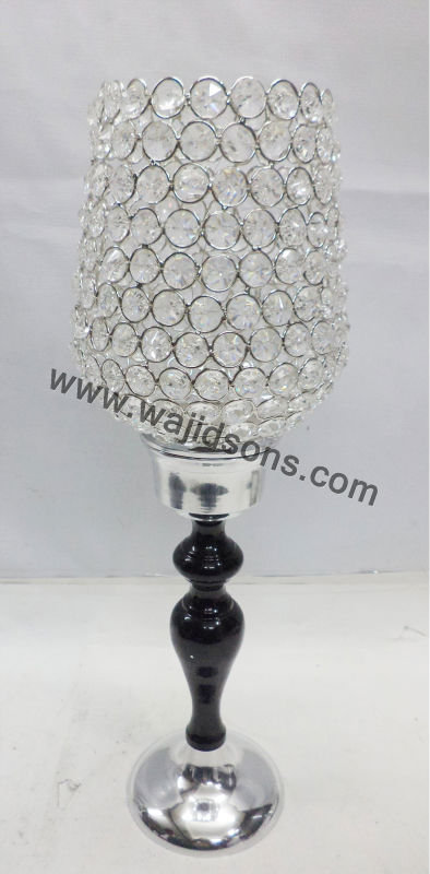 Metal crystal candle stands And Stands