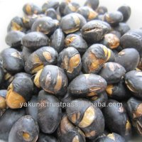 Healthy foods Black roasted soybean snack made in Japan