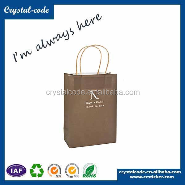 Custom printed excellent quality organic kraft paper bags for charcoal