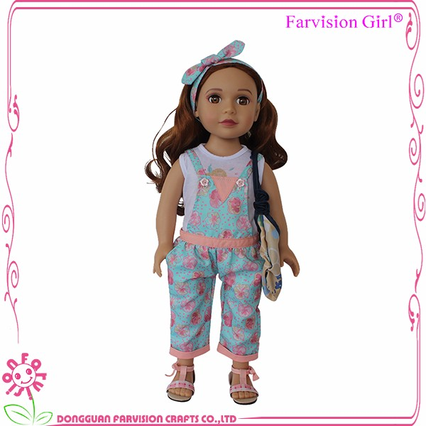 Handmade 18 Inch American Girl Doll Clothes Floral Pattern 18 inch Doll Clothes Accessories