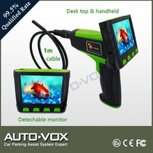 Diagnostic sewer pipe snake inspection camera with 9mm tube