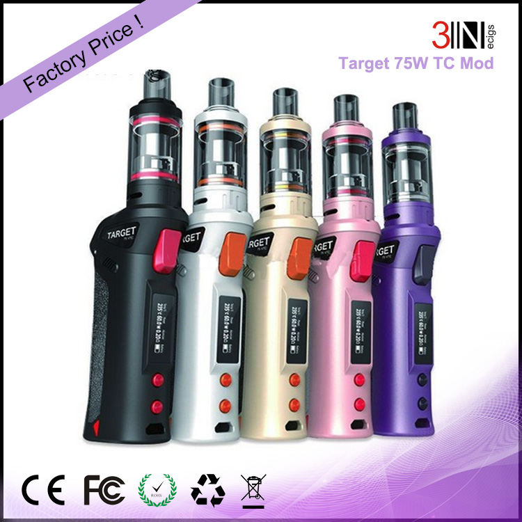 100% Original 75W Vaporesso TARGET Pro VTC Kit With cCELL Tank color changing light e cigarette