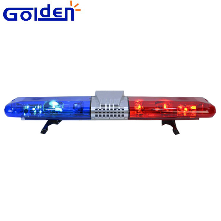New blue flashing red halogen rotating light bar with siren speaker and control box
