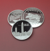 fascinating design silver plating smooth surface sound shape 40mm size 1.2mmthickness hot sale metal coins
