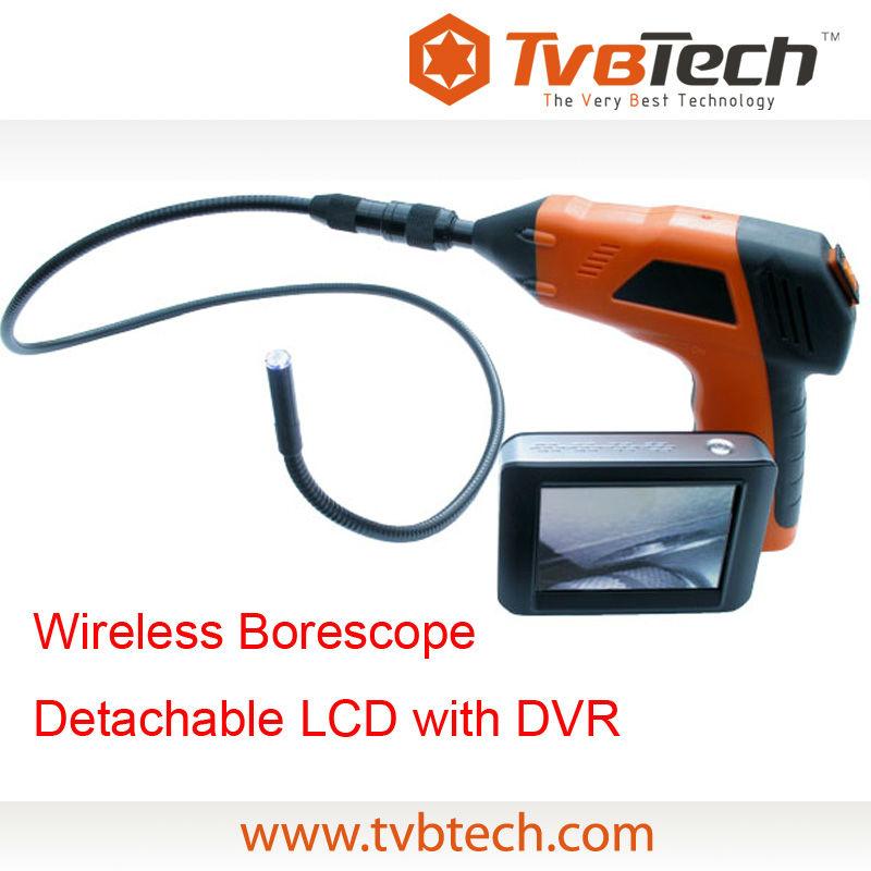 TVBTECH Remote Inspection Camera +4 Led Lights + Sd Card Recording 8803AL