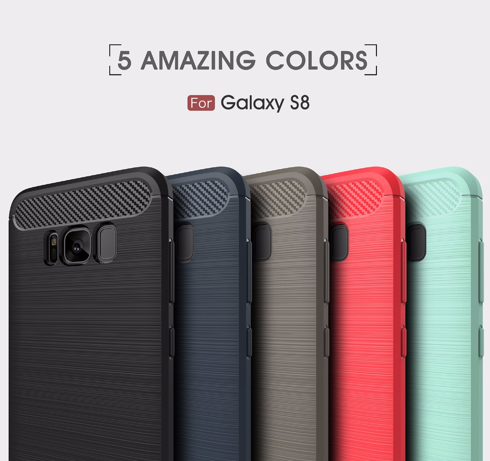 2017 Newest Galaxy S8 S8 Plus Carbon fiber Mobile cell phone cover armor case for Samsung Galaxy S8 / S8 Plus