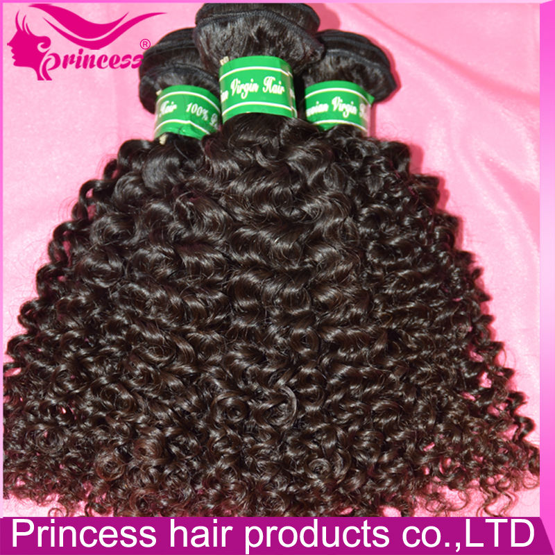 Long lasting Looking Natural Color Black 100gram 100% Virgin Human Kinky Tight Curl Brazilian Hand Tied Hair Weft