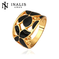 Innovative popular 18k yellow gold black butterfly ring R520