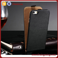 Best price Genuine leather Flip magnetic clip vertical Leather Case For iPhone 6