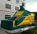 Bull on top inflatable bouncer with slide
