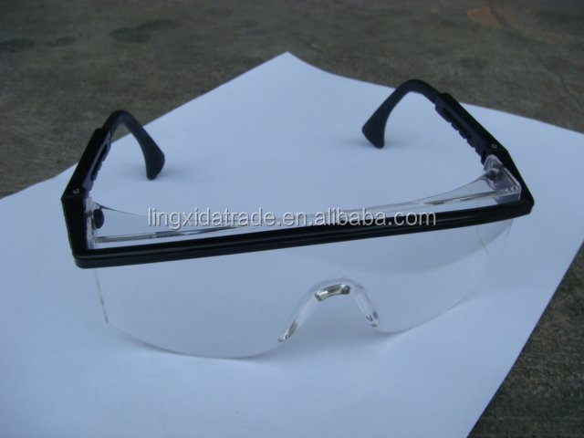 Safety Intruder Eyewear, Clear Lens construction safety glasses, Black temple