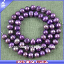 2014 Latest Fashion 7-8MM Round Potato Decoration Freshwater Pearl Strand Design